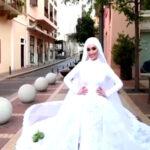بیروت میں دھماکہ، دلہن کی عروسی لباس میں بنائی گئی ویڈیو ادھوری رہ گئی